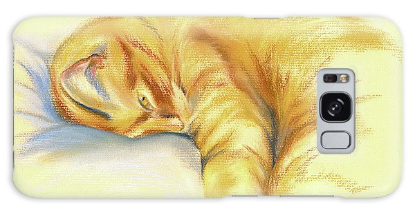 Tabby Cat Relaxed Pose Galaxy Case