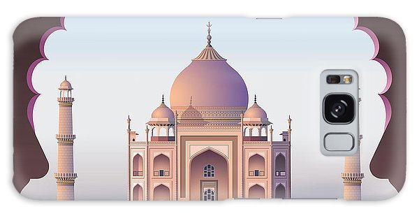 Spirituality Galaxy Case - Taj Mahal Through The Window by Nikola Knezevic