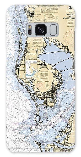 Tampa Bay And St. Joseph Sound Noaa Chart 11412 Galaxy Case