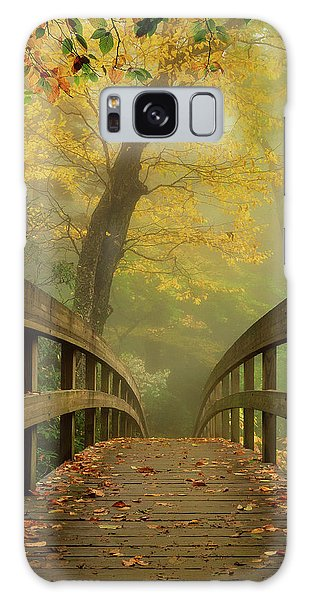 Tanawha Trail Blue Ridge Parkway - Foggy Autumn Galaxy Case