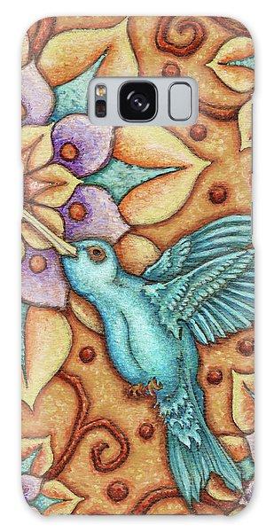 Tapestry Hummingbird Galaxy Case