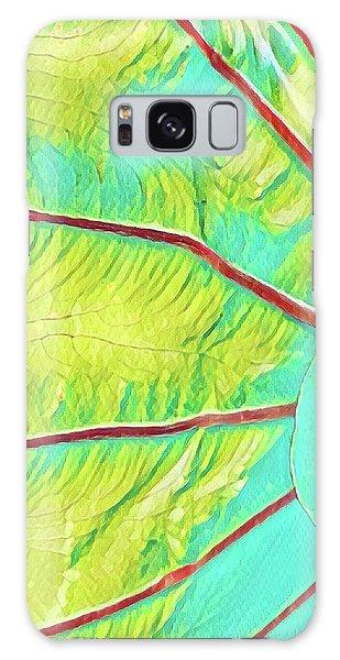 Taro Leaf In Turquoise  Galaxy Case
