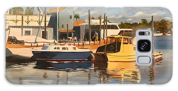 Galaxy Case featuring the painting Tarpon Springs Harbour by David Gilmore