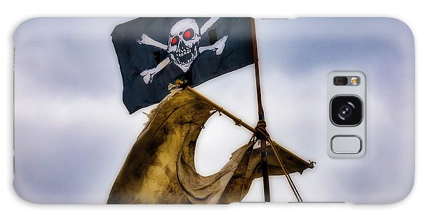 Sly Galaxy Case - Tattered Sail And Pirate Flag by Garry Gay