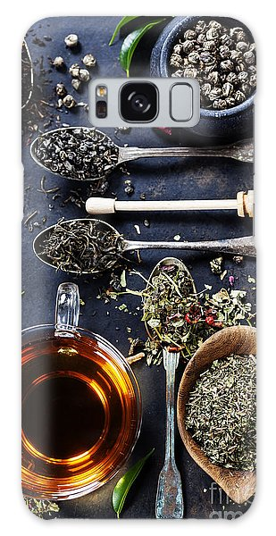 Metal Leaf Galaxy Case - Tea Composition With Different Kind Of by Natalia Klenova