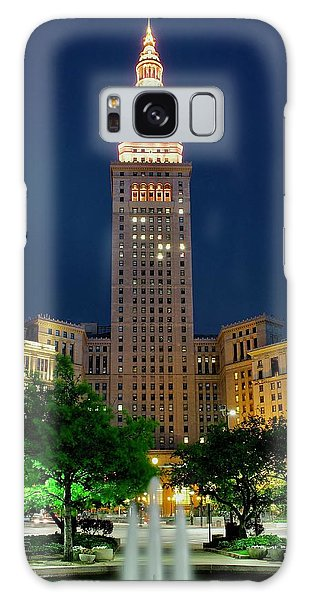 Town Square Galaxy Case - Terminal Tower 2014 by Frozen in Time Fine Art Photography