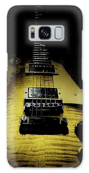 Galaxy Case featuring the digital art Honest Play Wear Tour Worn Relic Guitar by Guitar Wacky