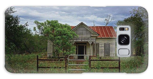 Texas Farmhouse In Storm Clouds Galaxy Case