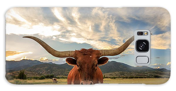 Pasture Galaxy Case - Texas Longhorn Steer In Rural Utah, Usa by Johnny Adolphson