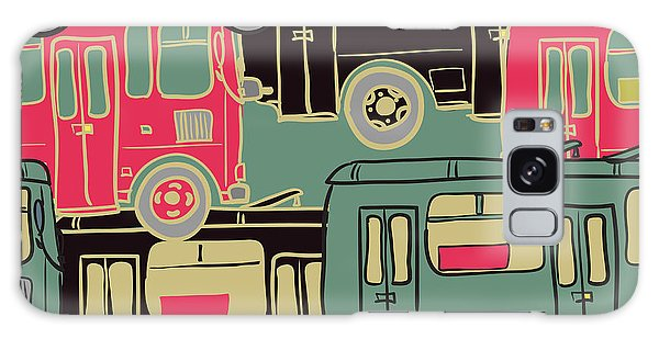 Automobile Galaxy Case - Textile Seamless Pattern Of Colored by Dark Ink