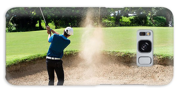 Amateur Galaxy Case - Thai Young Man Golf Player In Action by Kitzero