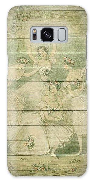 The Ballet Dancers Shabby Chic Vintage Style Portrait Galaxy Case