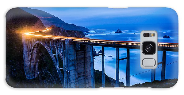 Monterey Galaxy Case - The Bixby Creek Bridge At Night, In Big by Jon Bilous