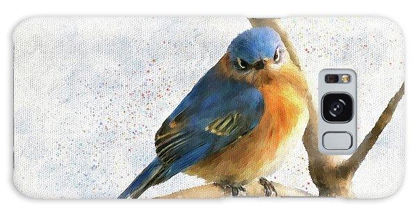 Eastern Bluebird Galaxy Case - The Bluebird Of Unhappiness by Lois Bryan