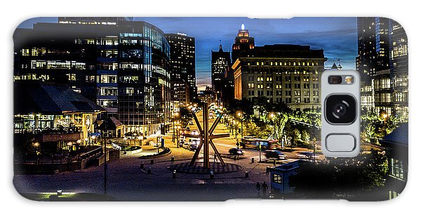 Galaxy Case featuring the photograph The Calling At Blue Hour by Randy Scherkenbach