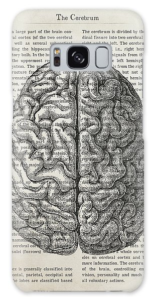 Cerebral Galaxy Case - The Cerebrum Anatomy Illustration by Aged Pixel