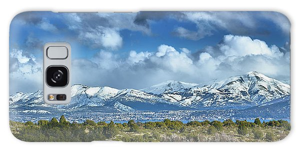 The City Of Bariloche And Landscape Of Snowy Mountains In The Argentine Patagonia Galaxy Case