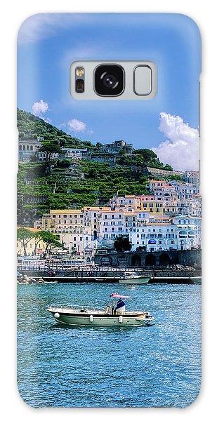 The Colorful Amalfi Coast  Galaxy Case