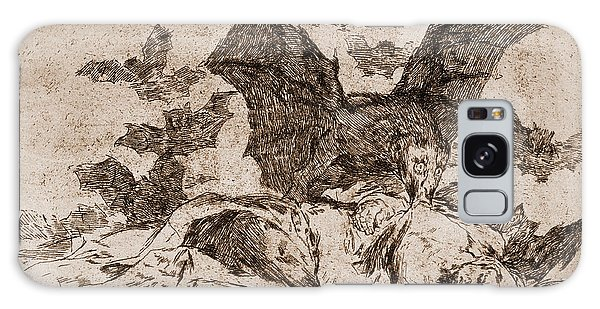 Pen And Ink Drawing Galaxy Case - The Consequences by Goya
