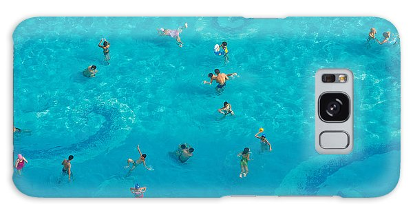 Bath Galaxy Case - The Crowd In The Pool by Oceanfishing