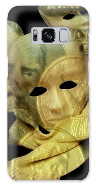 Galaxy Case featuring the digital art The Face Of Greed by ISAW Company