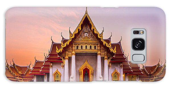 Travel Destinations Galaxy Case - The Famous Marble Temple Benchamabophit by Pumidol