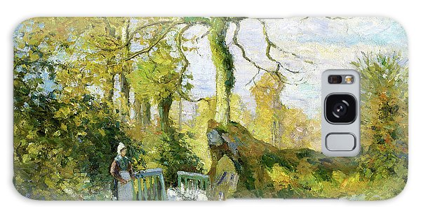 Country Living Galaxy Case - The Goose Girl At Montfoucault - Digital Remastered Edition by Camille Pissarro