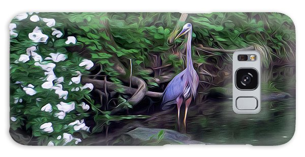 The Great Blue Heron - Impressionism Galaxy Case