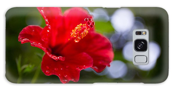 Bright Colors Galaxy Case - The Hibiscus Flower Close Up by Chayatorn Laorattanavech