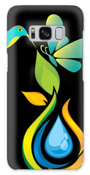 Galaxy Case - The Kissing Flower And The Butterfly On Flower Bud by Ize Barbosa DIAMOND IS FOREVER