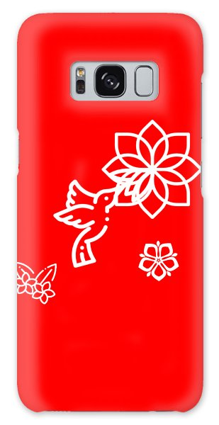 Galaxy Case - The Kissing Flower On Flower by Ize Barbosa DIAMOND IS FOREVER