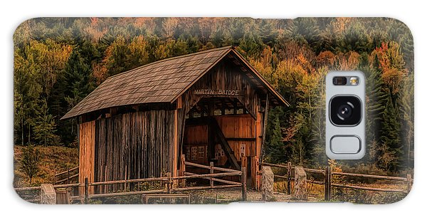 The Martin Covered Bridge In Marshfield Vt. Galaxy Case
