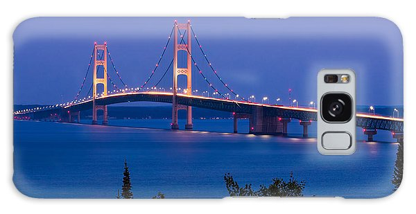 Great Lakes Galaxy Case - The Mighty Mackinac Bridge, Connecting by Kenneth Keifer