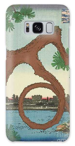 Art Institute Galaxy Case - The Moon Pine On The Temple Grounds At Ueno  by Utagawa Hiroshige