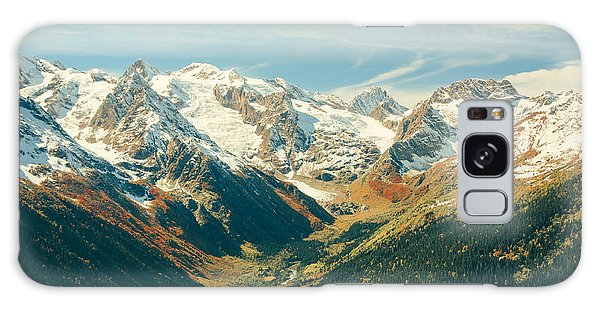 Cloudscape Galaxy Case - The Mountain Autumn Landscape With by Travelmakershop