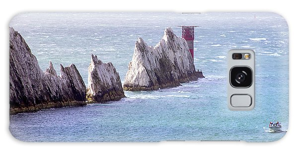 Sea Stacks Galaxy Case - The Needles Lighthouse by Martin Newman