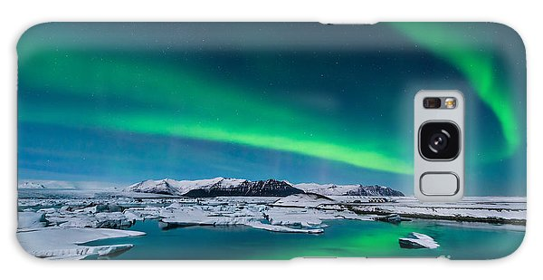 Tide Galaxy Case - The Northern Lights Dance Over The by John A Davis