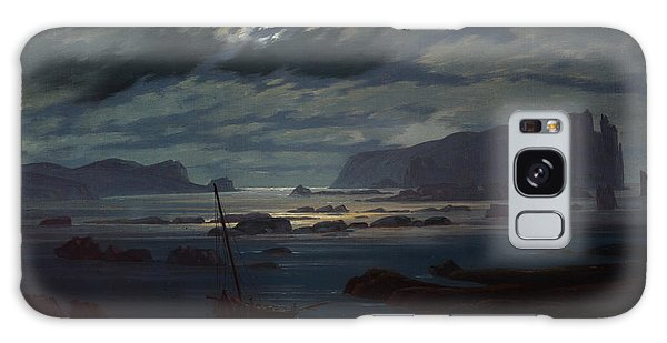 Islands In The Sky Galaxy Case - The Northern Sea In Moonlight by Caspar David Friedrich