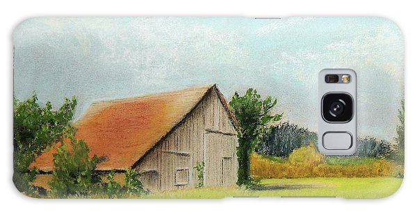 The Old Barn In The Meadow Galaxy Case