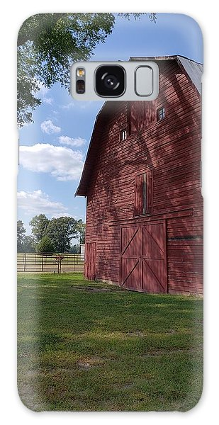 The Old Red Barn Galaxy Case
