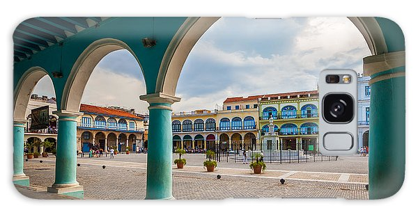 Travel Destinations Galaxy Case - The Old Square Or Plaza Vieja From The by Maurizio De Mattei