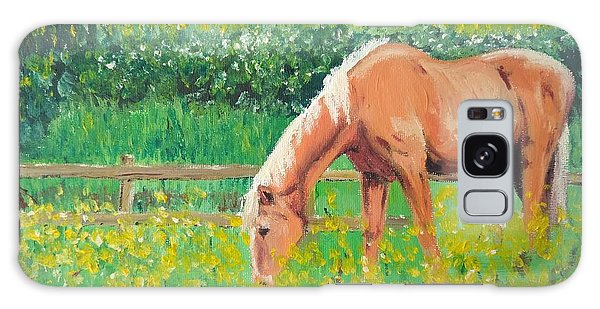 The Palomino And Buttercup Meadow Galaxy Case