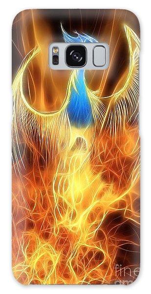 Mythology Galaxy Case - The Phoenix Rises From The Ashes by John Edwards
