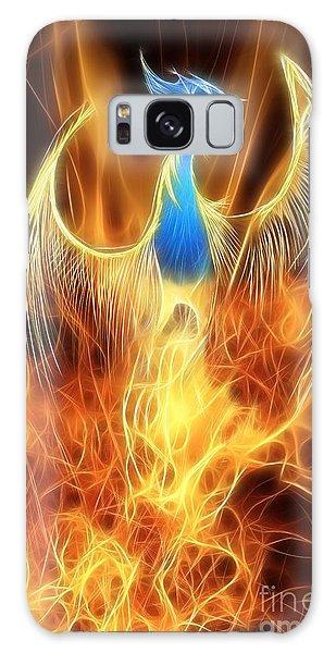 Mythological Galaxy Case - The Phoenix Rises From The Ashes by John Edwards