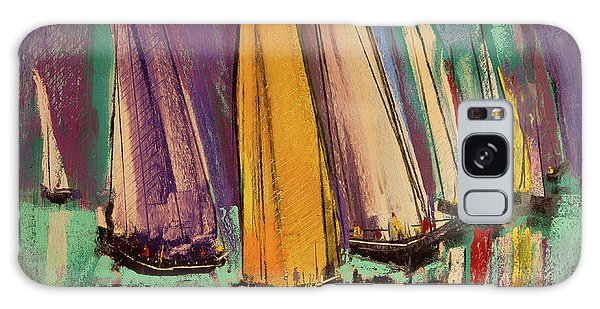 Galaxy Case featuring the pastel The Race by David Patterson