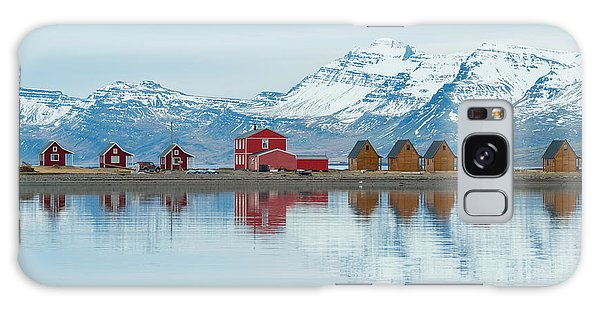 Cottage Galaxy Case - The Reflection Of The Small Cottage In by Boyloso