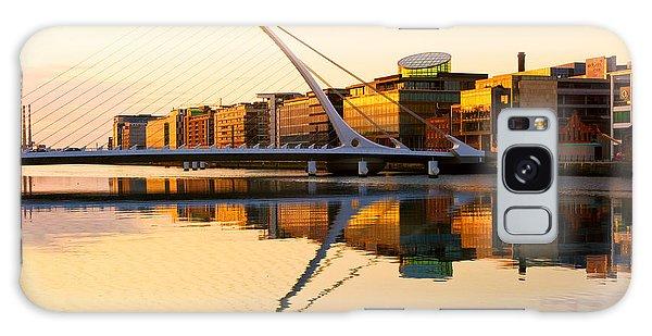 Dawn Galaxy Case - The Samuel Beckett Bridge On The River by Rainprel