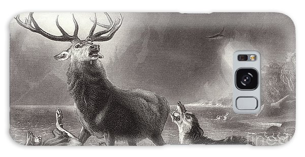Bay Galaxy Case - The Stag At Bay by Edwin Landseer