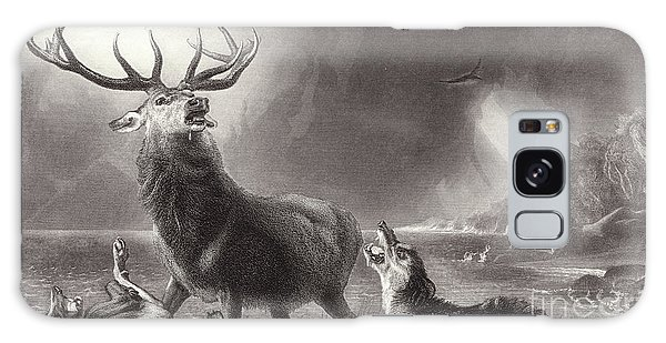 Engraving Galaxy Case - The Stag At Bay by Edwin Landseer