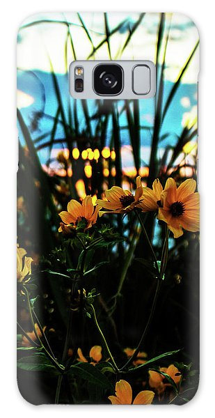 The Sunflower's Sunset Galaxy Case